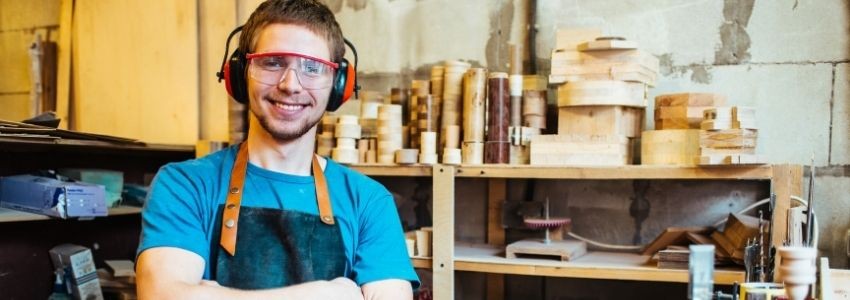 A self employed person with workers compensation insurance.