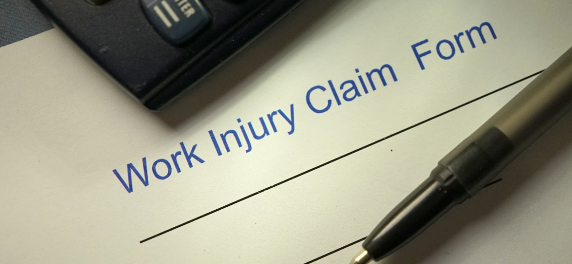 A workers compensation claim form ready to be filled out.