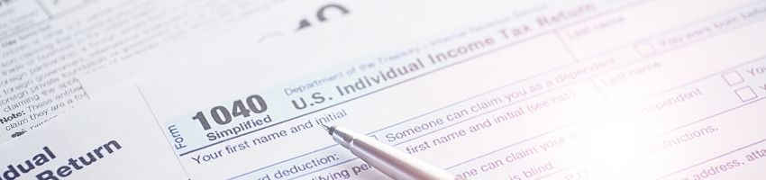 A close up of a tax document from the IRS